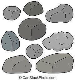 セット, 石, ベクトル