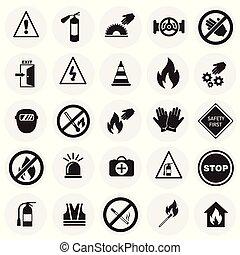 セット, 禁止, circels, 安全, 背景, サイン