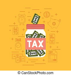 セット, 税, 日, アイコン