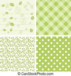 セット, 緑の背景