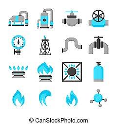 セット, 自然, storage., 生産, ガス, オブジェクト, 注入