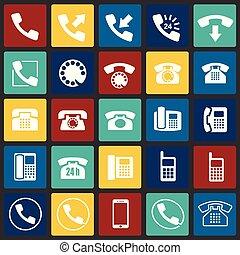 セット, 色, 現代, デザイン, 最新流行である, デザイン, 網アイコン, concept., 単純である, インターネット, 正方形, シンボル, ウェブサイト, 印。, 電話, 背景, グラフィック, モビール, ボタン, app., ベクトル, ∥あるいは∥