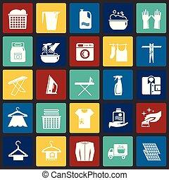 セット, 色, 現代, デザイン, 最新流行である, デザイン, 網アイコン, concept., 単純である, インターネット, 正方形, 印。, ウェブサイト, 洗濯物, シンボル, 背景, グラフィック, モビール, ボタン, app., ベクトル, ∥あるいは∥