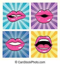 セット, 芸術, ポンとはじけなさい, 口, 歯, 舌