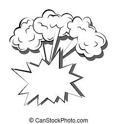 セット, 芸術, 爆発, テキスト, 強力, 隔離された, ポンとはじけなさい, 3, バックグラウンド。, ベクトル, スピーチ, イラスト, テンプレート, 漫画, 泡, 白, 漫画
