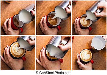 セット, 芸術, latte