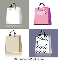 セット, 袋, 買い物