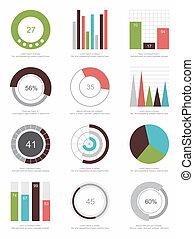 セット, 要素, infographics