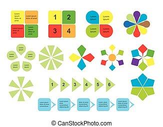 セット, -, 要素, infographics