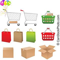 セット, 買い物, 要素