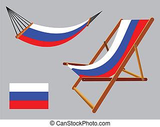 セット, 連合, デッキ, ハンモック, ロシア人, 椅子