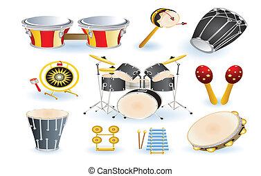 セット, 道具, 打楽器
