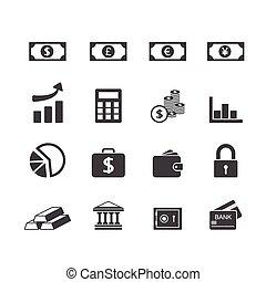 セット, 金融, アイコン