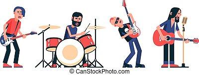 セット, 隔離された, バンド, 音楽家, 特徴, 岩