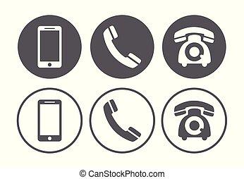 セット, 電話, アイコン