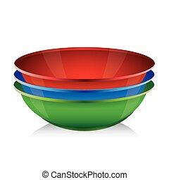 セット, 青, ボール, -, ベクトル, 緑の赤