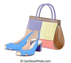 セット, 靴, ハンドバッグ