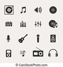 セット, 音楽, アイコン