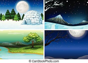 セット, 風景, 自然