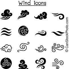 セット, 風, アイコン