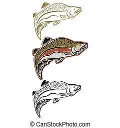 セット, 鮭, 跳躍