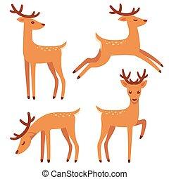 セット, 鹿, 漫画
