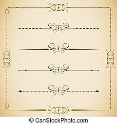 セット, 0010, 型, ラベル, 枠にはめられた, ベクトル