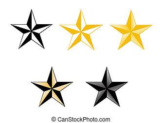 セット, 5, 有色人種, 星
