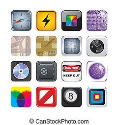 セット, apps, 2, アイコン