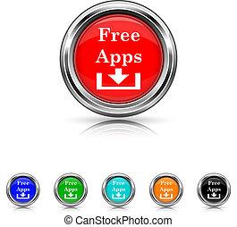 セット, apps, 6, -, 無料で, 色, アイコン