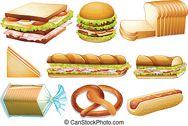 セット, bread
