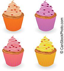 セット, cupcake