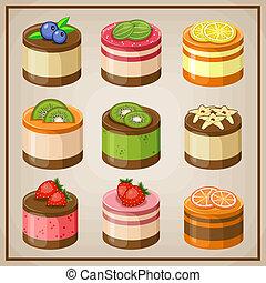 セット, cupcakes.