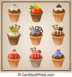 セット, cupcakes