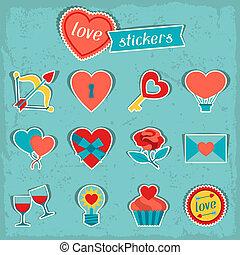 セット, elements., バレンタイン, アイコン, デザイン, 結婚式