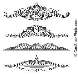 セット, elements., calligraphic