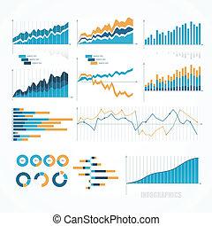 セット, elements., infographics