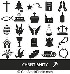 セット,  eps10, アイコン, キリスト教, シンボル, 宗教, ベクトル