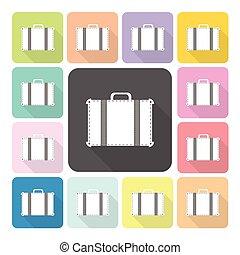 セット, illustration., 色, 袋, ベクトル, アイコン