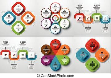 セット, infographics