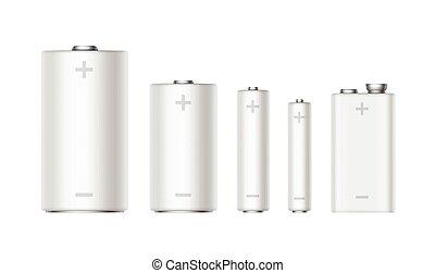 セット, pp3, 電池, aa, ボルト, 電池, 9, aaa, 大きさ