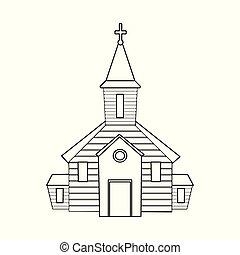 セット, stock., 正統, 印。, オブジェクト, 隔離された, ベクトル, 教会, 聖書, アイコン