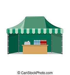 セット, stock., 食物, 印。, イラスト, ビットマップ, 外面, 市場, アイコン
