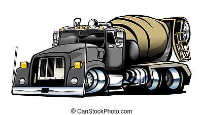 セメント, イラスト, トラック