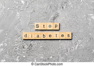セメント, 上, 木, block., テーブル, 単語, desing, 光景, 糖尿病, 止まれ, あなたの, 概念, 文語のテキスト
