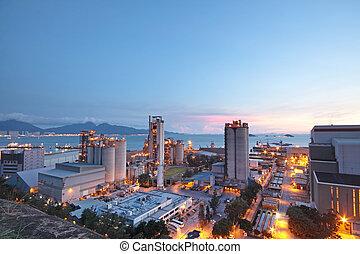 セメント, 植物, ∥あるいは∥, セメントの 工場, 重い, 産業, ∥あるいは∥, 建設, industry.