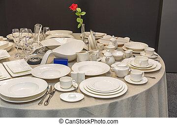 セラミック, プレート, テーブル