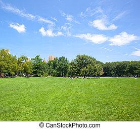 セントラル・パーク, ∥において∥, よく晴れた日