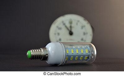 セービング, 電球, オブジェクト, リードした, ライト, 世代, 新しい, エネルギー