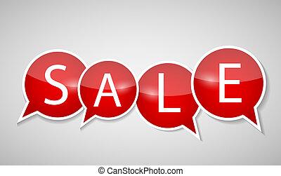 セール, 概念, の, discount., ベクトル, illustration.